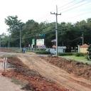 สร้างถนนสี่ช่องทางจราจร หน้าโรงเรียน