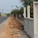 ก่อสร้างรั้วโรงเรียน